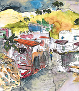 Townscapes Drawings - Velez-Malaga 03 by Miki De Goodaboom