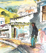 Townscapes Drawings - Velez-Malaga 04 by Miki De Goodaboom