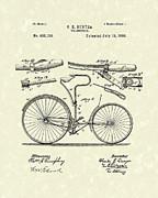 Velocipede 1890 Patent Art Print by Prior Art Design