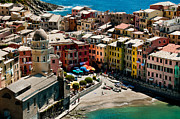 Green Sea Print Framed Prints - Venazza Cinque Terre Italy Framed Print by Xavier Cardell