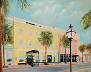 Rainbow Row Paintings - Vendue Inn Charleston South Carolina by Todd Bandy