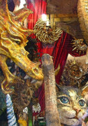 Venice Masks Prints - Venetian Animal Masks Print by Mindy Newman