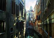 Venetian Canal Print by Jan Vidra