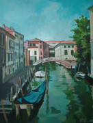 Venice Mixed Media Originals - Venetian Channel 2 by Filip Mihail