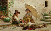 Venetian Prints - Venetian Children Print by Antonio Paoletti