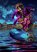 Theater Masks Posters - Venetian Dreaming Poster by Renee Doyle