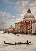 Gondola Digital Art Prints - Venetian Gondola III Print by Sharon Foster