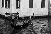 Gondolier Framed Prints - Venetian Gondolier Framed Print by David Waldo
