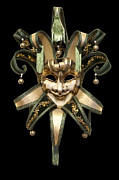 Cut Out Metal Prints - Venetian mask Metal Print by Fabrizio Troiani