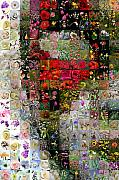 Photomosaic Prints - Venetian mask Print by Gilberto Viciedo