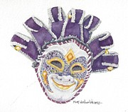 Mardi Gras Paintings - Venetian Mask VI by Mary Dunham Walters