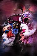 Masquerade Prints - Venetian Masks Print by Traveler Scout
