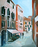 Venice Mixed Media Originals - Venetian Street by Filip Mihail
