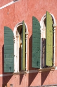 Old Facade Posters - Venetian windows Poster by Heiko Koehrer-Wagner