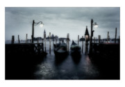 All Blue Framed Prints - Venice - Italy Framed Print by Marco Hietberg