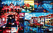 Venice Mixed Media Originals - Venice   Venezia by Gerald Herrmann