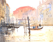 Christmas Holiday Scenery Art - Venice 2 by Milind Mulick