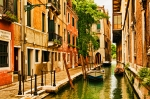 Canal Acrylic Prints - Venice Alley Acrylic Print by Mick Burkey