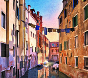 Alleyway Paintings - Venice Alleyway by Dominic Piperata