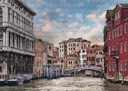 European City Digital Art - Venice at Sunset  by Sharon Foster