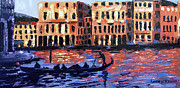 Twilight Mixed Media Framed Prints - Venice At Twilight Framed Print by Anthony Falbo
