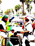 Venice Digital Art - Venice Beach artsy crowd by Funkpix Photo Hunter