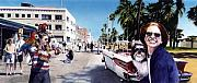 Antique Car Originals - Venice Beach by Denny Bond