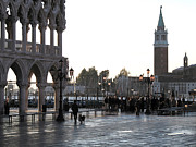 Rainy City Prints - Venice Print by Bernard Jaubert