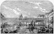 Gondolier Prints - Venice: Bridge, 1853 Print by Granger