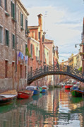 Canals Framed Prints - Venice bridge crossing 5 Framed Print by Heiko Koehrer-Wagner