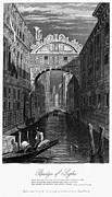 Gondolier Prints - Venice: Bridge Of Sighs Print by Granger