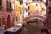 All - Venice Bridge over a small canal. by Tom Wurl