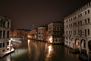 Venetian Architecture Posters - Venice by night Poster by Joana Kruse