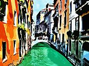 Canals Framed Prints - Venice Canal Framed Print by Arline Wagner