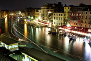 Travel Photography Prints - Venice Canal at Night Print by Patrick English