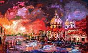Venice Canal Italy  Print by Ginette Fine Art LLC Ginette Callaway