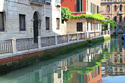 Dorsoduro Prints - Venice Canal Reflection 3 Print by Vicki Hone Smith