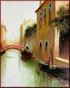 Italian Wine Paintings - Venice Canale by Schiller
