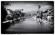 Trees And Bridge Prints - Venice Canals Views Print by John Rizzuto