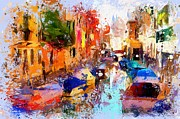 Gondola Digital Art Prints - Venice Canals Print by Yury Malkov