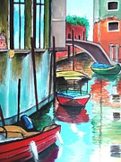 Canal Mixed Media - VENICE Corner by Dan Haraga