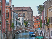 Grande Canal Framed Prints - Venice double bridge Framed Print by Heiko Koehrer-Wagner