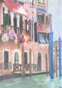 Buy Framed Prints Painting Acrylic Prints - Venice Acrylic Print by Emma Grimberg