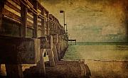 Seacape Metal Prints - Venice Fishing Pier Metal Print by Gina Cormier