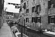 Black And White Photograph Of  Posters - Venice Poster by Frank Tschakert