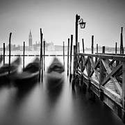Venice Travel Framed Prints - Venice Gondolas II Framed Print by Nina Papiorek