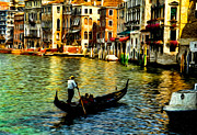 Built Digital Art Posters - Venice Gondolas Poster by Sabine Jacobs