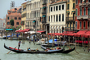 Gondolier Prints - Venice Grand Canal 2 Print by Andrew Fare