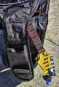 Chuck. Rock Prints - Venice Guitar I Print by Chuck Kuhn