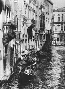 Gondolier Originals - Venice in Black and White by Nancy Slater